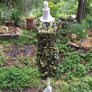 TAYLOR dress with gathers; size 8